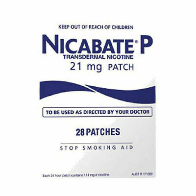 Nicabate P Transdermal Nicotine Patch 21mg 28 Patches HealthCo