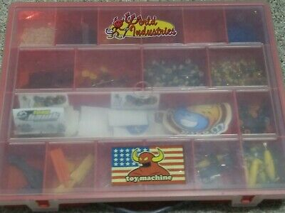 Tech Deck Handboard Fingerboard mini Tools Wheels Parts Lot with case and sticke