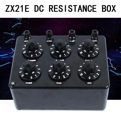 NEW ZX21E DC Resistance Box Rotary Lab Decade Resistor Resistance Adjustment Box
