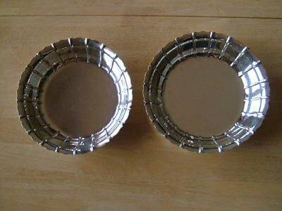 Pair Antique, George Iii, English Silver Strawberry Dishes, London 1792 Georgian