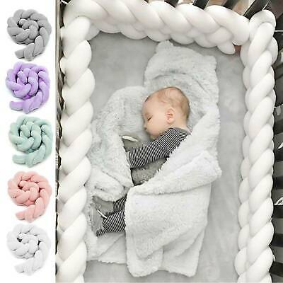 Baby Cot Bedding Bumper Infant Crib Woven Thick Plush Protection Pad Pillow 2020