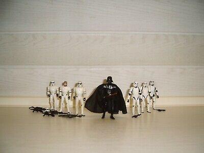 Star Wars Hasbro Darth Vader 6x Stormtrooper Armee Army Luke Skywalker Sammlung