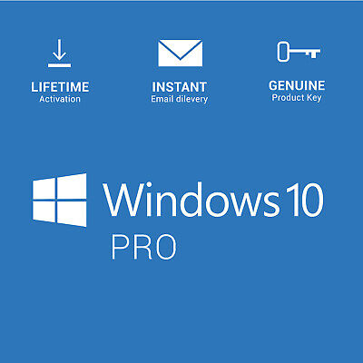 Windows 10 Pro Licence Key - Instant - 24/7 Support  32 & 64 BIT Activation