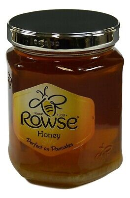 NEW - Solid Sterling Silver LID - ROWSE HONEY Jar - 340g - Boxed!