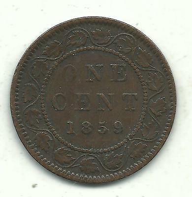 A Nice Better Grade 1859 Canadian Canada Large One Cent-May209