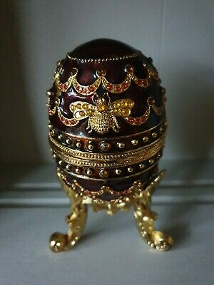 Jewelled Music/Trinket  Egg by Williamstown. Music box collection
