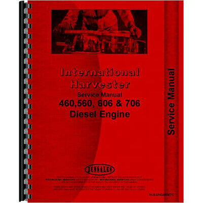 Engine Service Manual for International Harvester 656 Tractor (1965-1973)