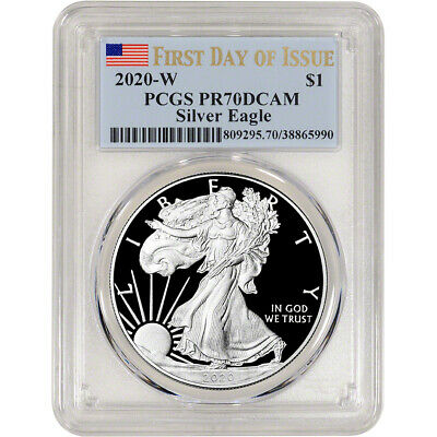 2020-W American Silver Eagle Proof - PCGS PR70 DCAM First Day Issue