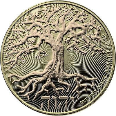 Niue 2018 $2 Tree of Life - gold 1 Oz Silbermünze