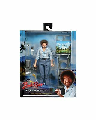 "NECA Bob Ross The Joy of Painting 8"" Clothed Action Figure"