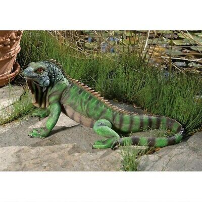 Caribbean Exotic Iguana Tropical Garden Sculpture Patio Large Statue
