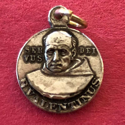Antique Catholic Religious Medal - Saint Anthony / Servus Dei Valentines  Petite