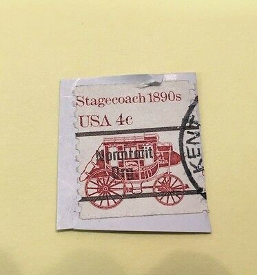 Stamp, USA, Stagecoach 1890's USA .04 cents