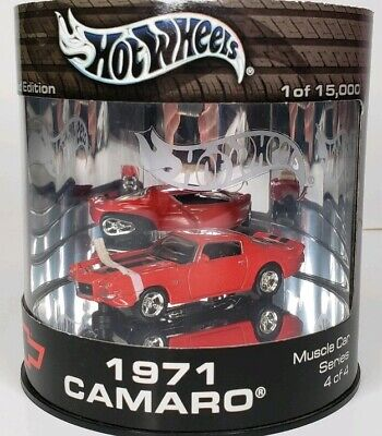 2003 Hot Wheels Red 1971 CAMARO ~ Oil Can Muscle Car Series 4 of 4 NEW