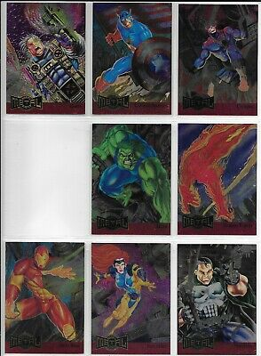 Fleer MARVEL METAL BLASTER Near Complete 17 of 18 Insert Set Lot 1995 Missing #4