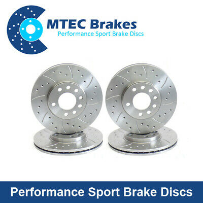 Drilled Grooved Front Brake Discs 330mm for BMW E82 E88 123d 07-14