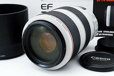 【Free Shipping】 Canon EF 70-300mm f/4.0-5.6 L IS USM Lens White Excellent w/ Box