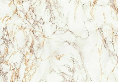 90cm wide WHITE BROWN GLOSSY MARBLE SELF ADHESIVE STICKY BACK PLASTIC VINYL WRAP