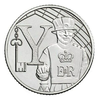 A-Z (2018) ALPHABET 10p - LETTER (Y) YEOMAN WARDER (UNCIRCULATED)