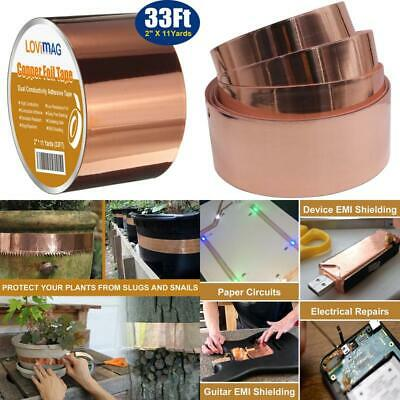 Copper Foil Tape 2inch X 33 FT with Conductive Adhesive for Guitar amp Crafts
