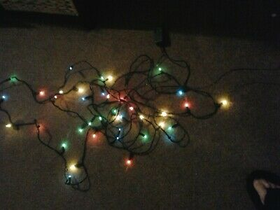 String Of 40 Multi Coloured Lights With Transformer By Dazzlers