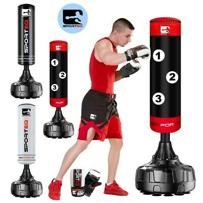 Sporteq ® 5.5ft Free Standing PunchBag,Target Boxing, Gloves, Floor Suction Pads