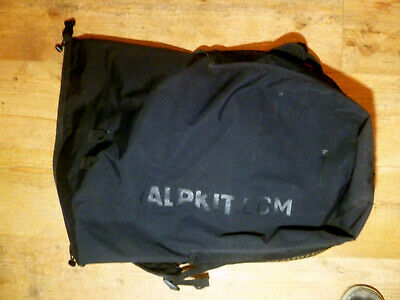 Black Alpkit Gourdon 30 Litre Dry Bag Biking Hiking Walking MTB