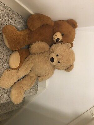 .(UK) Two Giant Teddy Bears Brown And Beige GIANT FUN TEDDY BEAR KIDS TOY  PLAY