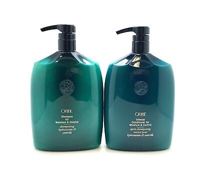 Oribe Shampoo & Intense Conditioner for Moisture & Control liter duo with Pumps