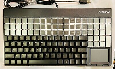 CHERRY G86 LPOS Keyboard w/Touchpad & Card Reader, Black - 127 keys
