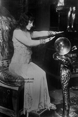 Vintage Mystic Fortune Teller PHOTO Creepy Circus Scary Psychic Gypsy Girl