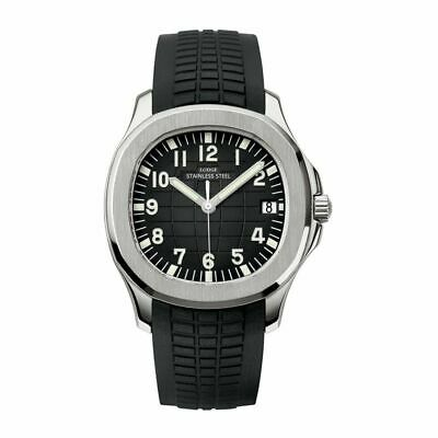 Men's Swiss Made Aquanaut Nautilus Homage Top Watch Waterproof Rubber Strap New