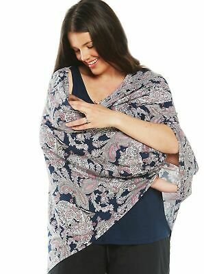 5 Ways Feeding Poncho Cover - Paisley Print