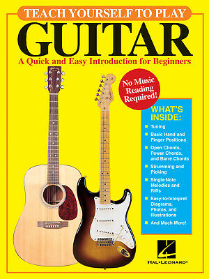 Teach Yourself to Play Guitar Quick & Easy Beginner Lessons Tab Hal Leonard Book