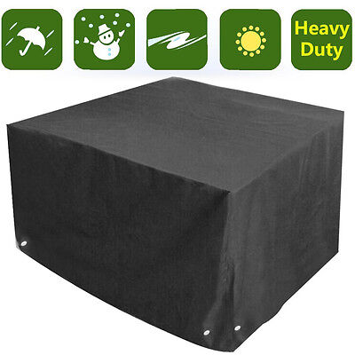 Heavy Duty Waterproof Rattan Cube Cover Outdoor Garden Furniture Rain Snow Cover