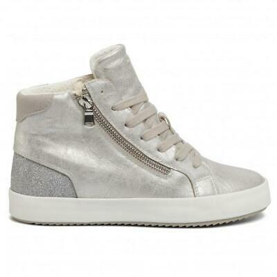 GEOX DONNA D828LC 0LY85 ARGENTO SNEAKERS PrimaveraEstate