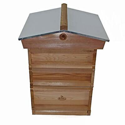 National Bee Hive Gabled Roof Cedar 2 Super 1 Brood with frames and wax easibee
