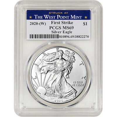 2020-(W) American Silver Eagle - PCGS MS69 - First Strike West Point Label