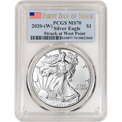 2020-(W) American Silver Eagle - PCGS MS70 - First Day of Issue