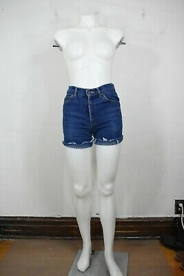 vintage Lee jean shorts 26 70's blue high waist cut off made in USA womens