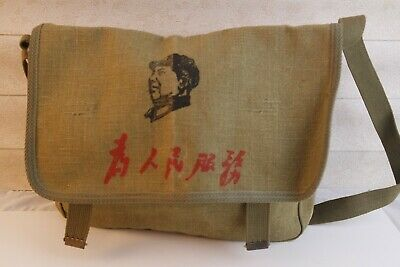 Surplus Chinese Army PLA Soldier military Canvas Bag Pouch