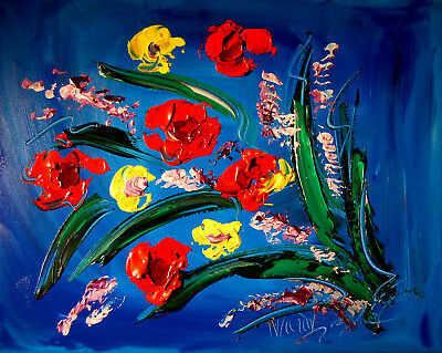 SUPERB FLOWERS  Abstract Oil Painting  Original Canvas Wall Decor Impressionist