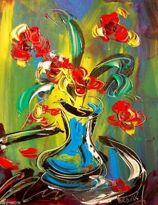 FLOWERS  Abstract Oil Painting JAZZ  Original Canvas Wall Decor Impressionist