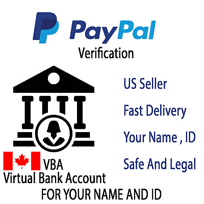 CAD Virtual Bank account For PayPal Verification CANADA (VBA)