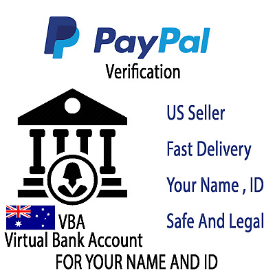 AUD Virtual Bank Account For PayPal Verification AUSTRALIA (VBA)