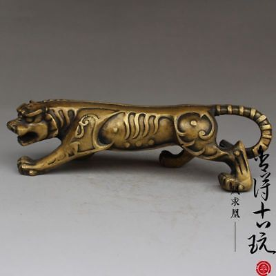 China handmade antique bronze Zodiac tiger Decoration Figurines Statues