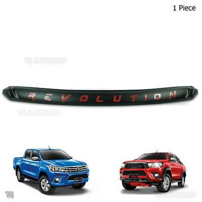 Front Bonnet Hood Trim Red REVOLUTION Fits Toyota Hilux Revo Pickup 2015 - 2017