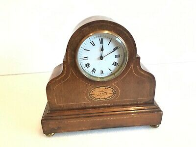 Antique Edwardian mantle clock, timepiece only. Eight day, Mechanical  movement