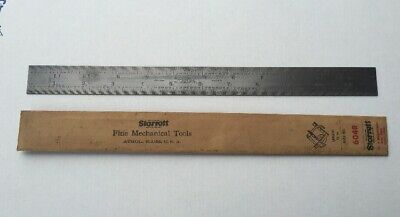 Vintage Starrett No. 604R  Tempered 12 Inch Rule Made In U.S.A.