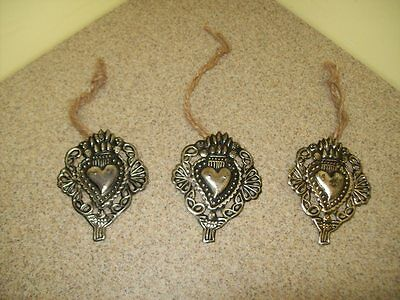 Vintage Tin Tole Ornaments (Lot of 3)
